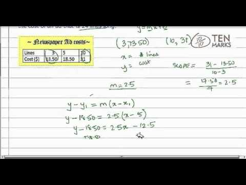 Linear Equations - Application