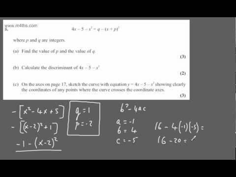 (q8) May 2012 C1 Edexcel - POST EXAM FEEDBACK ONLY- CORE 1