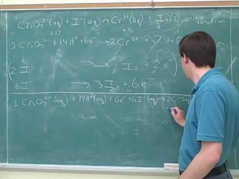Chemistry: Balancing redox reactions (7)
