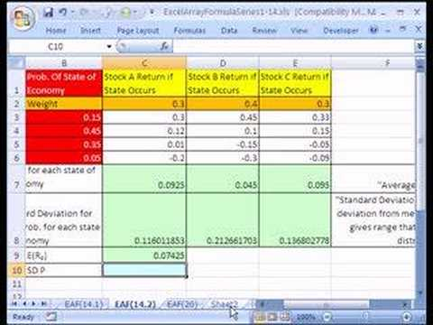 Excel Array Formula Series 14.4: Stock Portfolio Analysis