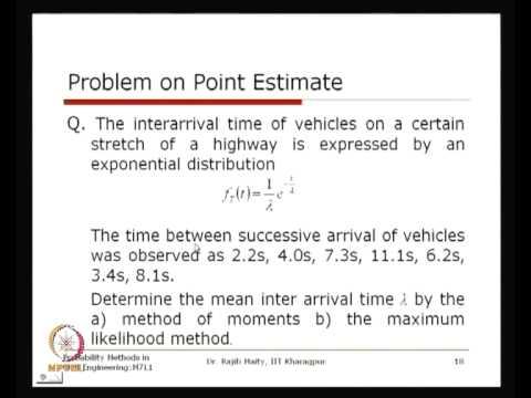 Mod-01 Lec-35 Sampling Distribution and Parameter Estimation