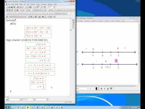 Using derivatives to find features of a graph