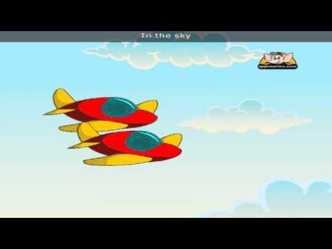 Two Twin Aeroplanes with Lyrics - Nursery Rhyme