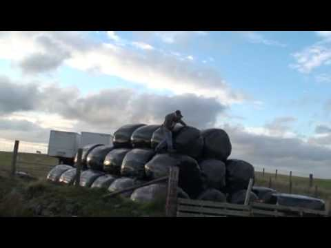 How to stack hay bales