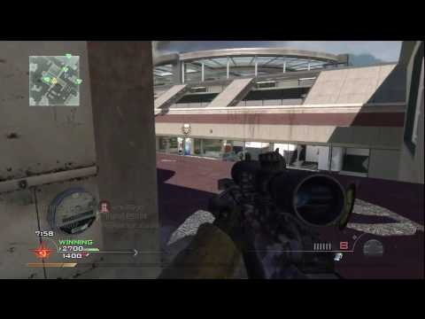 Call of Duty : Modern Warfare 2 - Sniping at the Terminal 16-4 (HD)