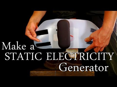 How to Make a Static Electricity Generator [Shock Anything & Fry Electronics with a Touch!]