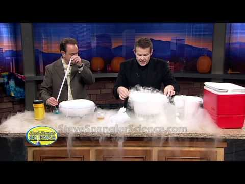 Dry Ice Crystal Bubble - Cool Science Experiment