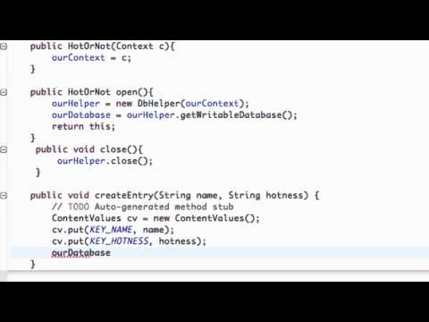 Android Application Development Tutorial - 117 - Inserting Data into SQLite Database
