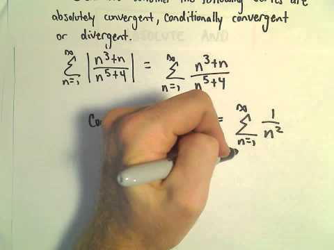 Absolute Convergence, Conditional Convergence, Another Example 3