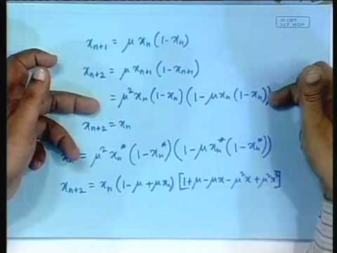 Lecture - 9 The Logistic Map and Period doubling