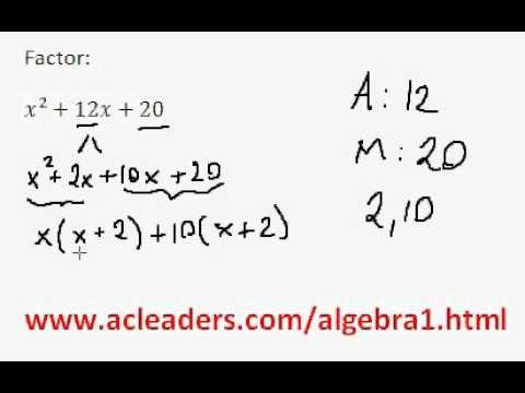 Factoring Trinomials by grouping - (pt. 4)