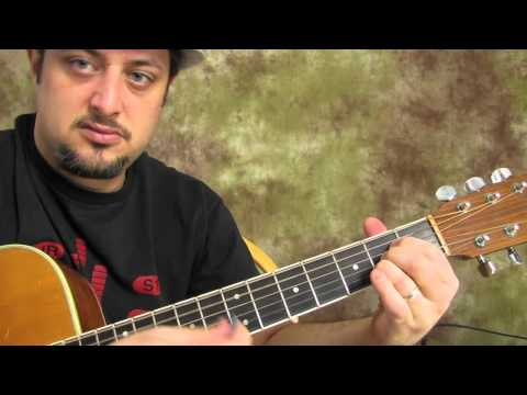 Easy Beginner Guitar Lesson on Acoustic - chords - embellishment