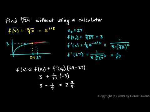 Calculus 3.05d - Linear Approximation