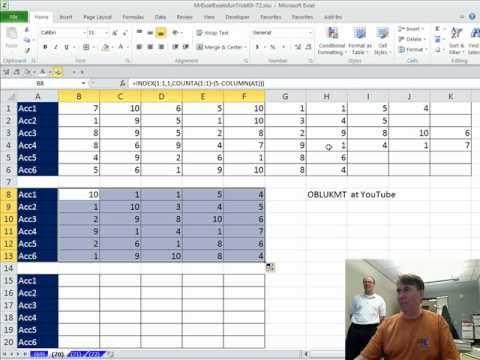 Mr Excel & excelisfun Trick 70: Lookup & Return Last 5 Numbers in a List