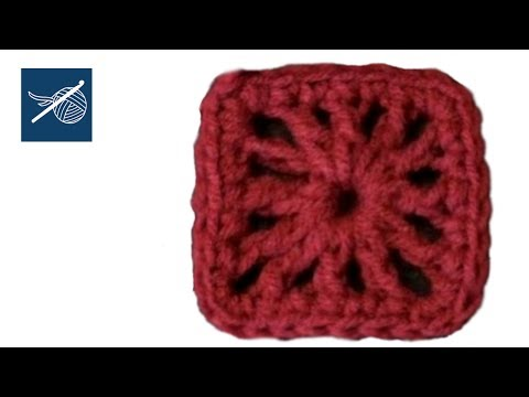 Small Double Crochet Square - Left Hand