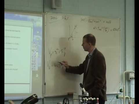 Leaving Cert Applied Maths Relative Velocity 2004 No.2 (b)
