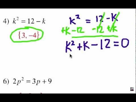 How to Solve Quadratic Equations: Problem Set #1