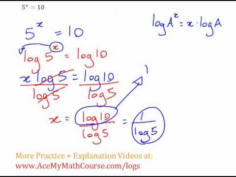 Exponential Equation - Solving with Logs Example #1