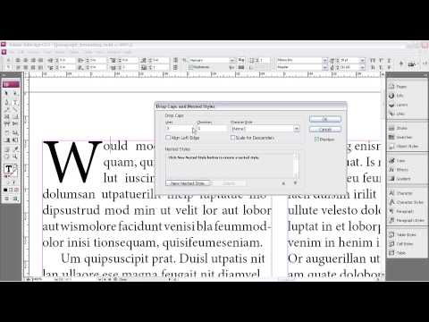 Adobe InDesign CS3 PARAGRAPH FORMATTING OPTIONS  Creating Drop Caps