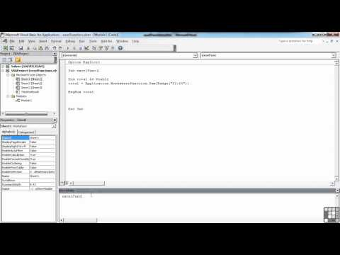 Visual Basic for Excel Tutorial | Using Excel Funcations | InfiniteSkills