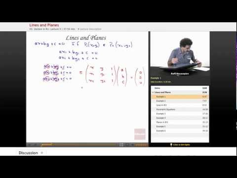 Linear Algebra: Lines and Planes