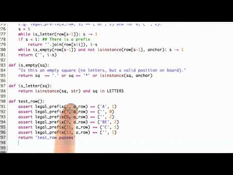 Legal Prefixes Solution - CS212 Unit 6 - Udacity
