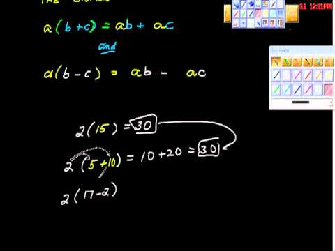 The Distributive Property Multiplication over addition ALgebra