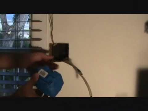 Installing an electrical cutin box