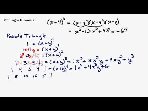 Cubing a Binomial Using Pascal's Triangle