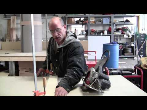 How to cut a straight edge with a circular saw.