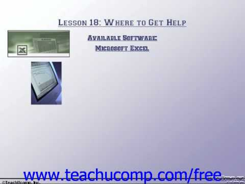 Accounting Tutorial Available Software Training Lesson 18.4