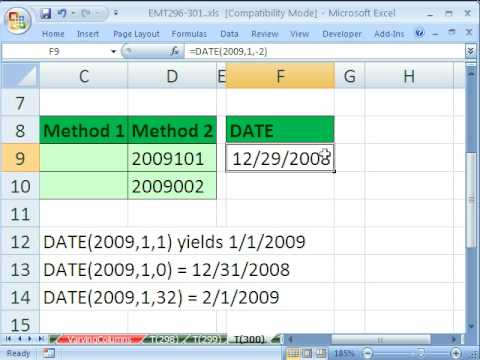 Excel Magic Trick 300: YEAR DATE TEXT functions for Date Label
