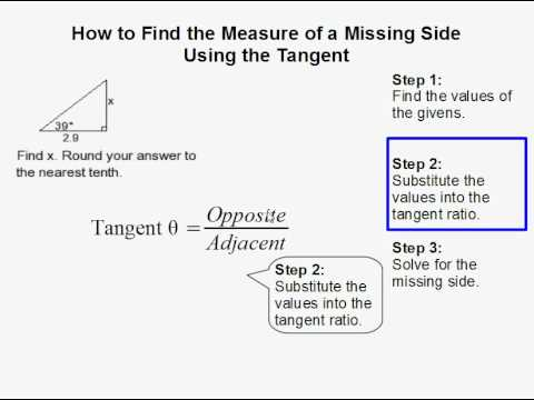 Find the Measure of a Missing Side in a Triangle Using the Tangent