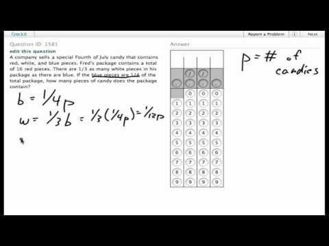 Grockit SAT Math - Student Produced Response: Question 1581