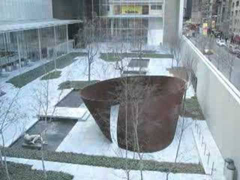 Installation of Richard Serra's sculptures at MoMA
