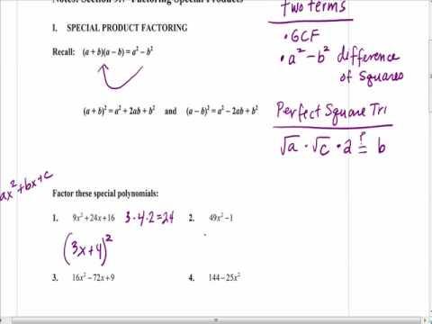 Algebra Notes 9.7