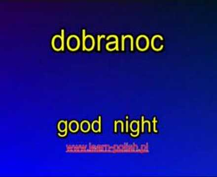 "How to say ""goodnight"" in Polish."