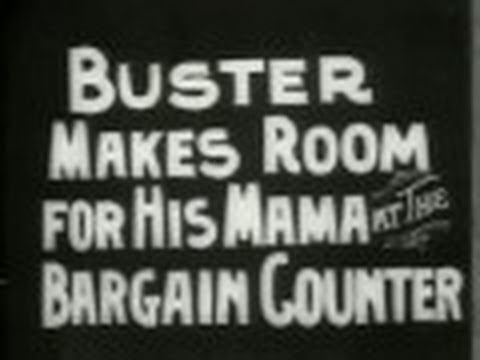 Buster Makes Room for His Mama at the Bargain Counter