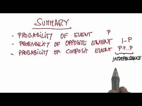 Summary - Intro to Statistics - Probability - Udacity