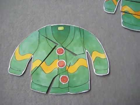Preschool-Language. Sweater types puzzle