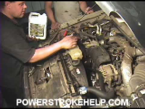 7.3 WATER PUMP INSTALL 8 OF 8 FORD POWERSTROKE DIESEL