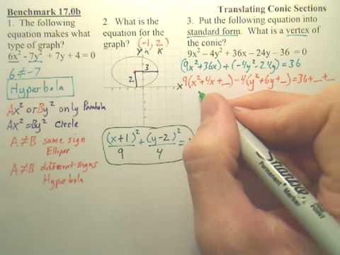 Benchmark 17b - Conic Sections - Algebra 2