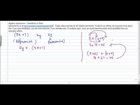 1348. CBSE Class VIII, ICSE Class VIII - Mathematics  Multiplication  of Monomial and Polynomial
