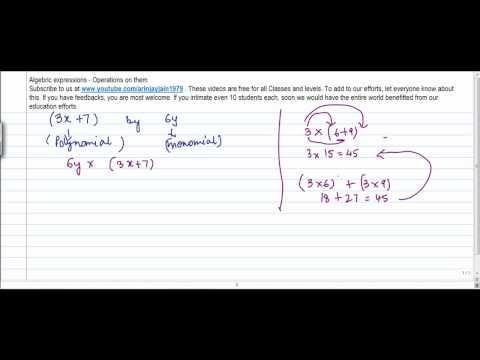 1348. CBSE Class VIII, ICSE Class VIII - Mathematics  Multiplication  of Monomial and Polynomial
