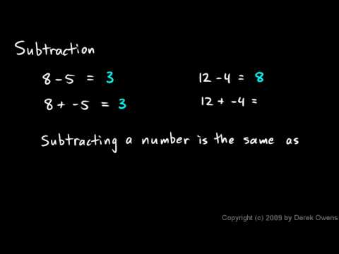 Algebra 1  2.04a - Subtraction