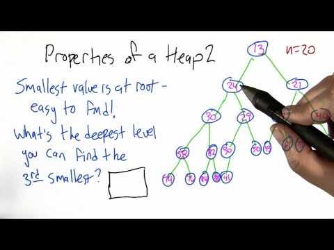 Properties of a Heap - Algorithms - Statistics - Udacity