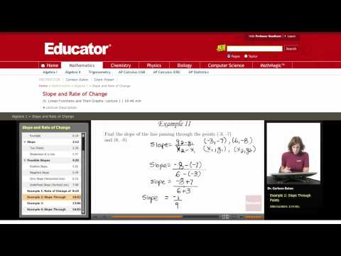 Algebra: Slope and Rate of Change