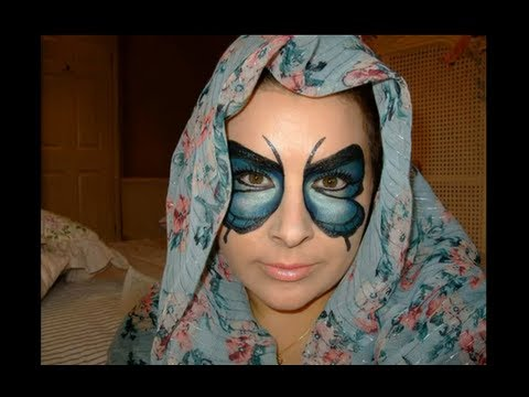 "Halloween make up Butterfly Mask ""Collab with KlairedeLys"""