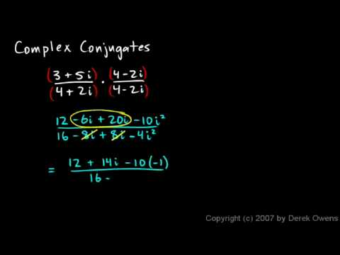 Complex Numbers, Part 10 - Complex Conjugates Example