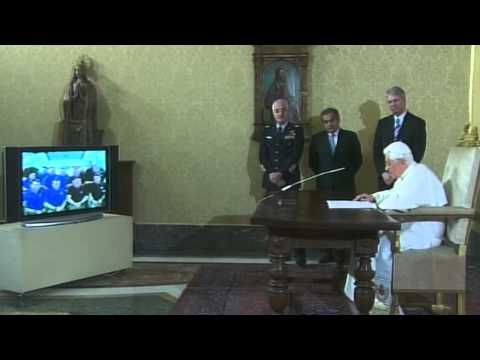 Pope Benedict XVI Greets Shuttle, Station Crew